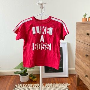 🦋 Red Like a Boss Short Sleeve Graphic Tee 3T